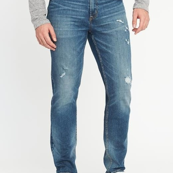 8faaab2c6 Old Navy Jeans | Athletic Builtin Flex Distressed For Men | Poshmark